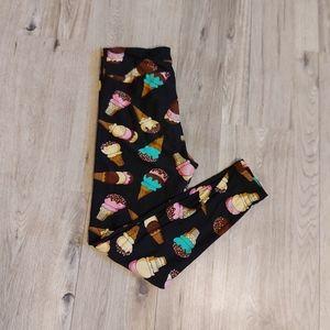 TC LuLaRoe Tall & Curvy Leggings Ice Cream Print